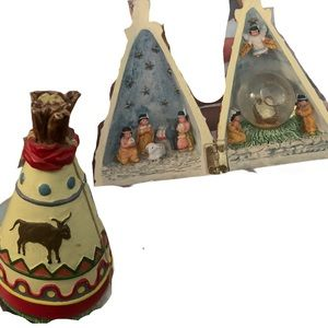 Native American Tipi Tiny Trinket That Opens Up